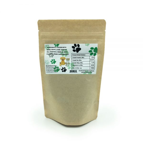 CBD Freeze-Dried Chicken Pet Treats Ingredients