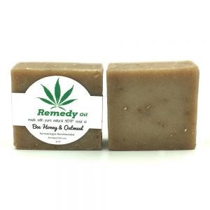 Remedy Bee Honey Oatmeal Hemp Seed Oil Soap