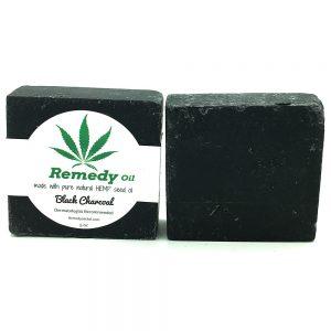 Remedy Black Charcoal Hemp Seed Oil Soap