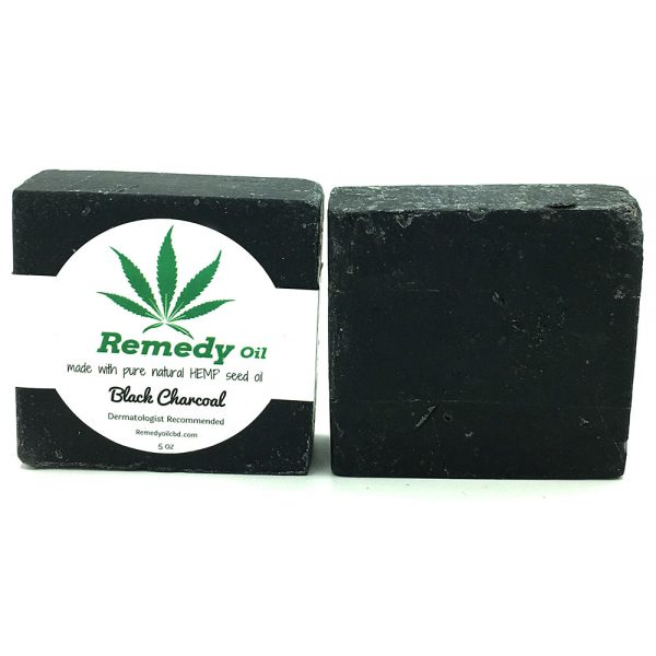 Remedy Black Charcoal Hemp Seed Oil Soap