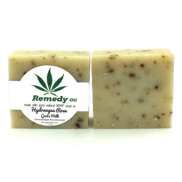 Remedy Hydrangea Rose Goats Milk Hemp Seed Oil Soap