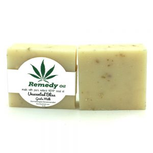 Remedy Unscented Bliss with Goats Milk Hemp Seed Oil Soap